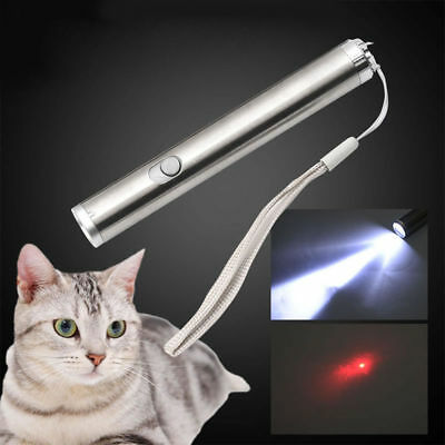 2in1 10 Miles 3 AAA Red Laser Pointer Pen LED Flashlight Torch Light Pet Cat Toy