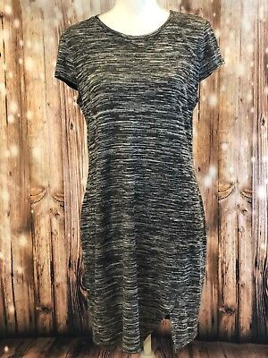 f73cb3f2fba Kensie Junior Women s Gray Short Sleeved Knit Dress with Side Split Size  LARGE