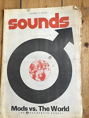 Sounds magazine Mods edition 1979 complete,good condition