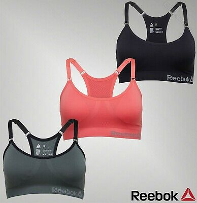 3c4522cbaf1ef Ladies Branded Reebok Adjustable Strap Seamless Performance Sports Bra Size  4-18