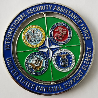 International Security Assistance Force US National Support Element Spinner Coin