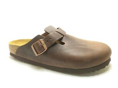 Sabot Birkenstock BOSTON unisex originali Olied Leather Habana Brown NUOVI