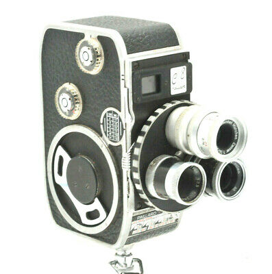 Paillard Bolex C8 8mm Cine Camera with cassar 36mm 3.5, Yvar 12.5mm, Yvar 13mm