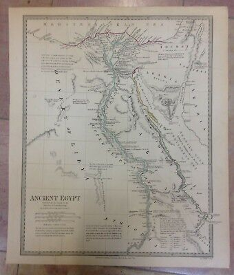 EGYPT DATED 1831 by G. LONG 19e CENTURY VERY LARGE ANTIQUE ENGRAVED MAP
