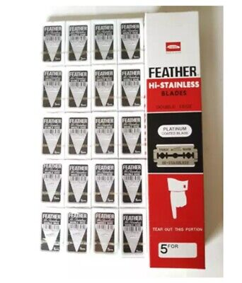 Razor Blades Hi Stainless Shaving FEATHER Coated Double classic Super 5's x 100