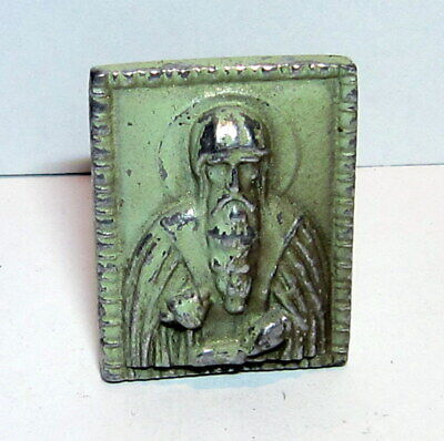 Antique Early 1900 Russian Orthodox Icons For Desk Saint John Of Rila # 328