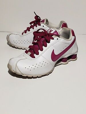 hot sale online 630c4 18d83 Nike Shox Classic II 343907 102 Womens 6 White Pink Leather Upper