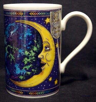 Dunoon 'Cosmos' Moon & Stars Stoneware Mug by Jane Adderley - Excellent