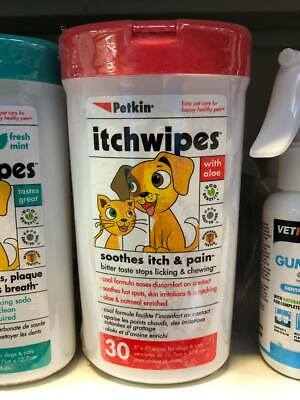 Petkin Itchwipes for  Cats & Dogs Itch Wipes x 30   *SAMEDAY DISPATCH*