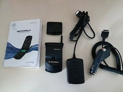 Motorola StarTac SWF0553C, Verizon Phone, Manual, Extra Bat, Home, Car Charger