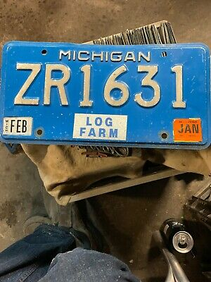 Michigan License Plate Log Farm. Stickerd 2007 .