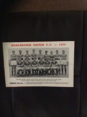 Manchester United team photo(programme),1959.