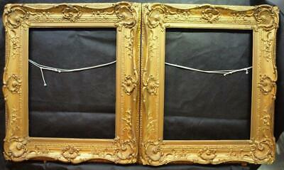"FINE PAIR 19th CENTURY GILDED Oil Painting / Picture Frames REBATE 18"" x 14"""