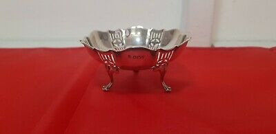 A Beautiful Solid Silver Sweet Dish With Pierced Patterns.sheffield.1924.