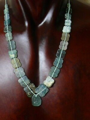 """(dB1218b)   Old afghanistan glass beads """"Roman style"""""""