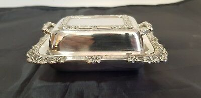 A Very Elegant 1950.s Vintage Silver Plated Butter Dish with beautiful patterns.