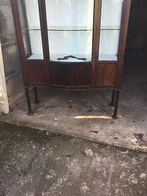 mahogany. China Cabinet Late Victorian Early Edwardian