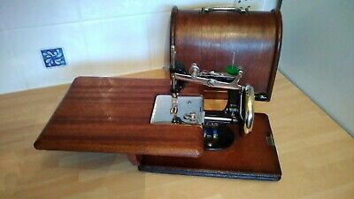 Vintage Lead Child's Miniature Foreign Hand Crank Sewing Machine