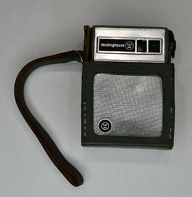 Vintage Westinghouse 6 Transistor Radio W/Green Case Made In Japan Not Tested