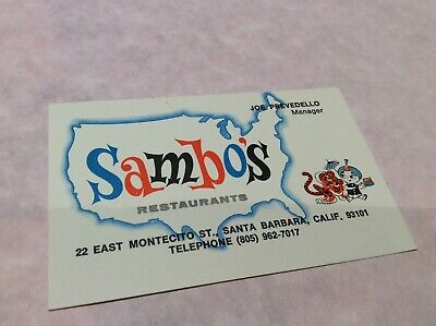 Vintage Sambos Restaurant Picture Story Series Post Cards 495