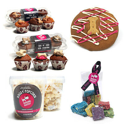 Barking Bakery Dog Treats Snacks Sweets Iced Muffins Popcorn Cookie Rocky Road