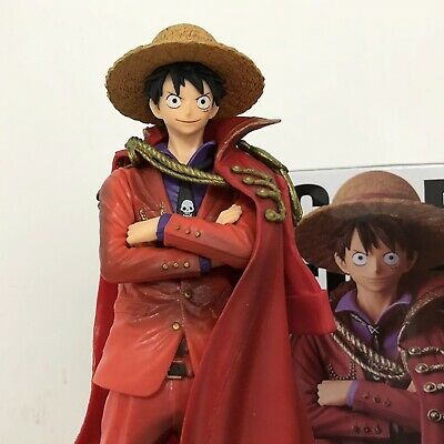 Action Figure One Piece 20th Anniversary Straw Hat Monkey D Luffy Blue Chinese Clothes Ver Pvc 13cm Japan Anime Collection Toy Toys & Hobbies
