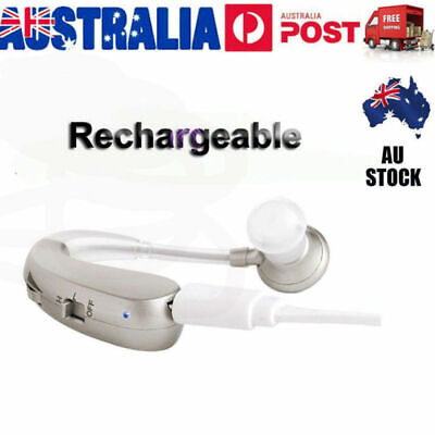 Rechargeable Digital Hearing Aid Severe Loss BTE Ear Aids HIGH-POWER Xmas Gift