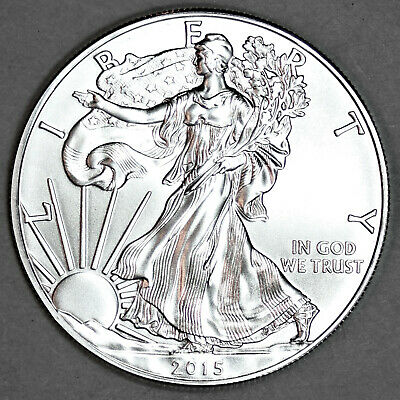 2015 UNCIRCULATED AMERICAN SILVER EAGLE, 1oz .999 FINE SILVER