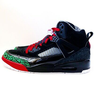 finest selection 54bec 26e40 New Air Jordan Spizike Basketball Sneakers 315371-026 Sz 11.5 Black Green  Red