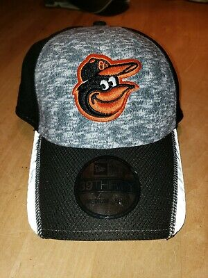 e30c704e508 Baltimore Orioles MLB New Era 39THIRTY Flex-Fit Baseball Cap Hat (MEN S MED-