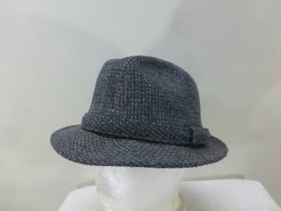 f06f07f9335 Young An wool blend gray tweed Fedora Hat cap lid madmen mid cent mens 7 7