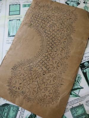 Antique Bobbin Lace Pricking - Large Cluny Lace Collar