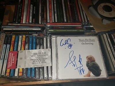 Tears For Fears The Hurting Autographed Cd W/ticket Stub