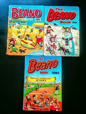 Beano UK Comic Annuals 1980's, Hardback, Old, Vintage (1982, 1984, 1985)