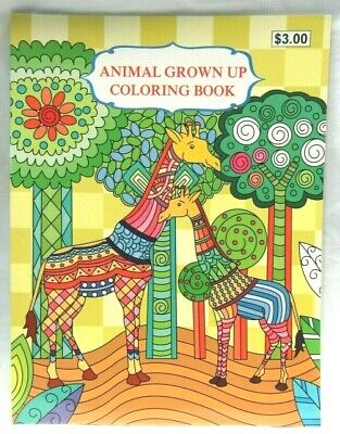 Grown Up Adult Coloring Book Animals Birds Fish Owl Bear Dolphin etc... 32 Pages