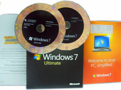 MS Microsoft Windows 7 Ultimate 64-Bit x64 w/SP1 Full Retail Version