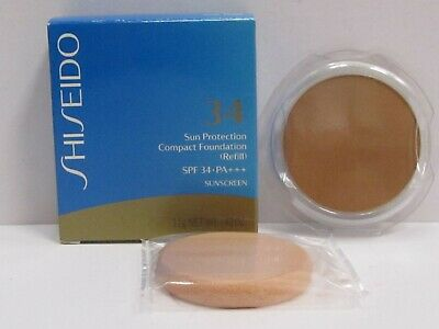 Shiseido Sun Protection Compact Foundation color SP70 SPF 34 Refill + Sponge