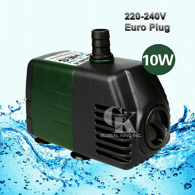 220V Submersible Water Pump 1200LPH Fish Tank Fountain Pond Fall Hydroponic 10W