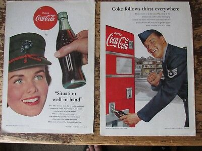 1950s Coca Cola vintage print ads - military themed -Lot of 5  Nat Geo