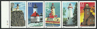 Scott 2973a, Lighthouses of the Great Lakes - Never Folded Booklet Pane, MNH