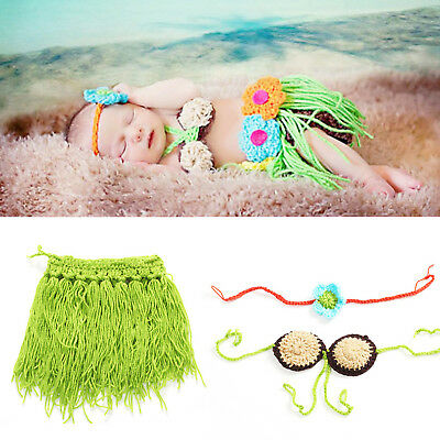 Newborn Baby Girls Boys Crochet Knit Costume Photo Photography Prop Outfits YH