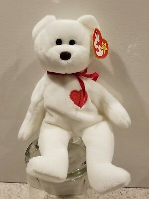 TY Original  VALENTINO  Bear Beanie Baby COLLECTIBLE with ERRORS Beenie Babies