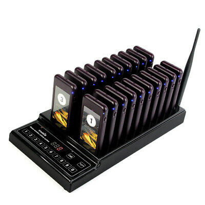 TIVDIO Restaurant Wireless Customer Call 999CH Queuing Paging System&20 Pager UK