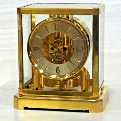 JUST CLEANED SERVICED 1940s LECOULTRE 519 *GOLD PLATED* #26,XXX ATMOS WORKING