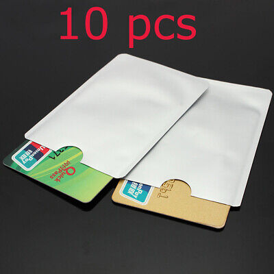 10Pcs RFID Secure Sleeves Credit Card Holder Blocking Protector Case Shield New