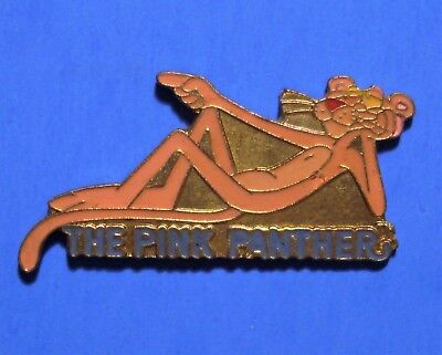 Pink Panther - Laying Down - Rare Vintage 1990 United Artist Pictures Lapel Pin