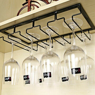 Metal Wine Glass Rack Holder Steamware Hanger Decoration Box Organizer New