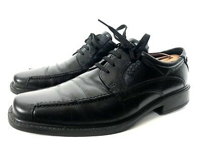e75f3ef0aec Ecco Shoes Black Leather Oxfords Bicycle Toe Size 8.5 US 42 EUR Lace Up  Walking