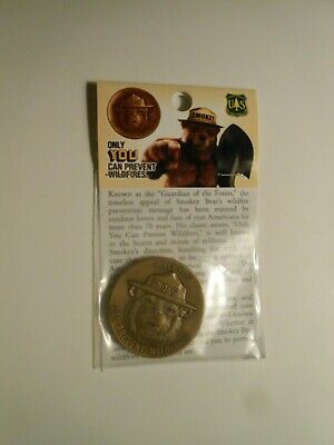 """New Smokey The Bear Bronze Coin / Token """"only You Can Prevent Wildfires"""""""