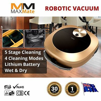 Robotic Vacuum Cleaner New 2019 12 Action Sweeps Mops Dries Intensive Schedules